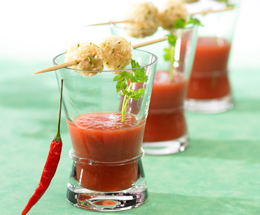 Palline di riso «Bloody Mary»